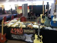 Setting up the stand at the Bristol guitar show © 2017 42nd Street Guitars