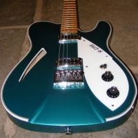 42nd street R cab thinline Porsche Montana green © 2018 42nd Street Guitars