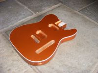 replacement bound body for Tele - Autumn copper © 2019 42nd Street Guitars