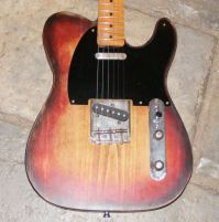 42nd street Broadway 5 worn and faded 3 tone sunburst © 2020 42nd Street Guitars