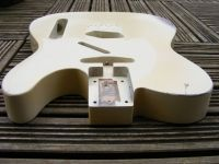 replacement body for tele - Vintage cream over 'burst (medium wear) © 2019 42nd Street Guitars