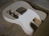 Replacement Tele body and hardware, double bound, desert sand © 2017 42nd Street Guitars