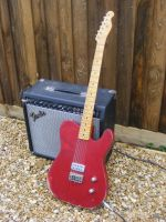 G Cab, Candy Apple red over Shoreline Gold, medium/heavy wear, flamed maple n © 2018 42nd Street Guitars