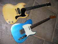 The Sinner, TV yellow, Broadway - 6, lake Placid Blue © 2017 42nd Street Guitars